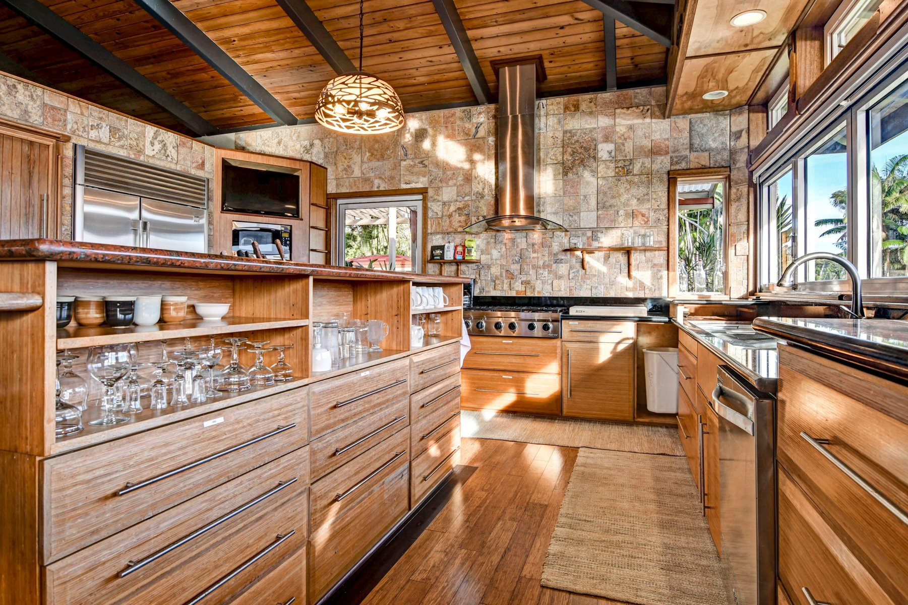 This large open floor plan kitchen was carefully thought out with top of the line everything.