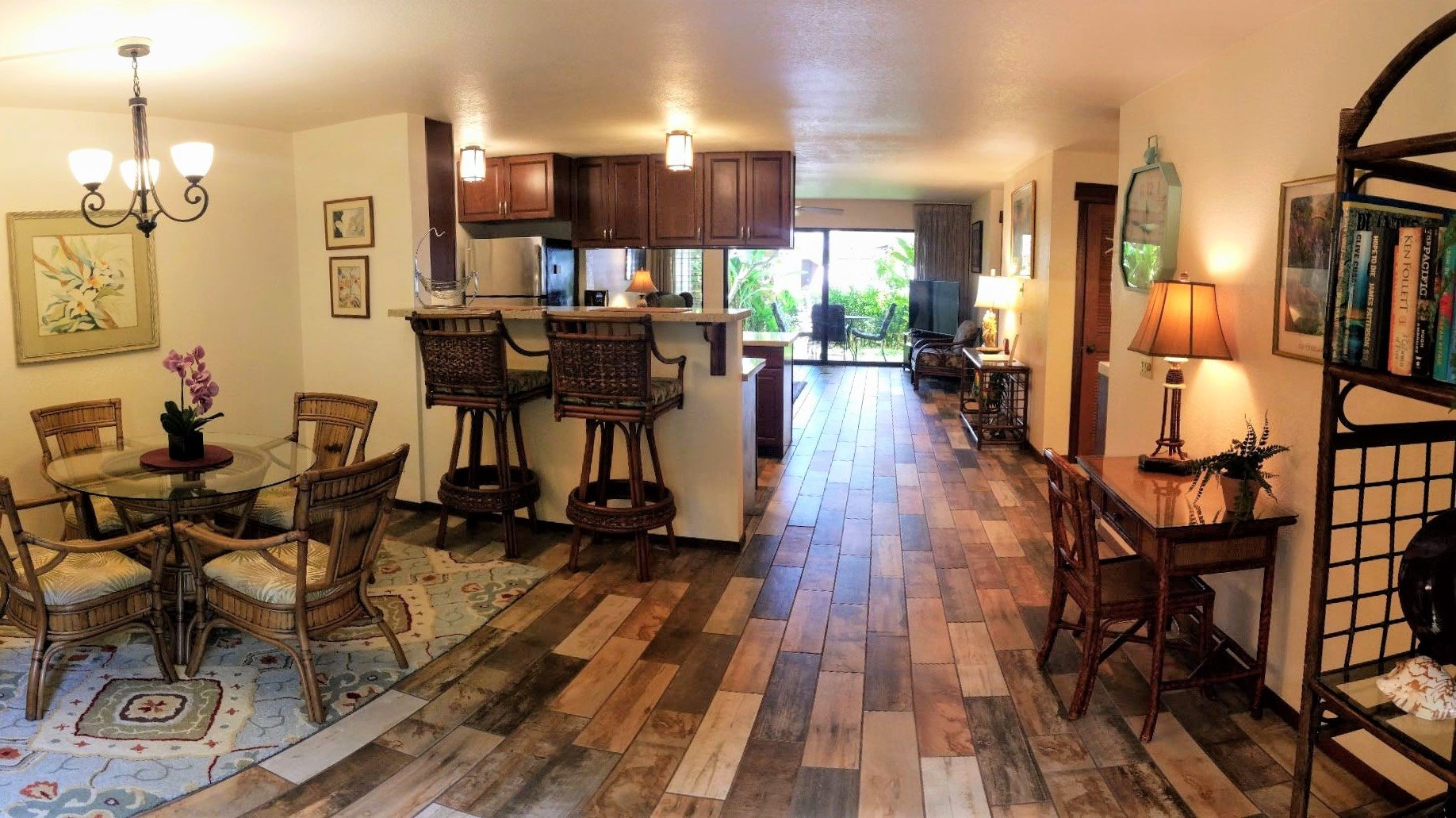 """Seller is looking for a """"Back Up Offer""""<br><br>Tastefully upgraded 1 bedroom, 1 bath condo on the ground floor.  Unit is priced for an immediate sale as it is 1 of only 2 fee simple units under $500k in Poipu.  Located within the Visitor's Destination Area, short term/vacation rentals are allowed.  Waikomo Stream Villas is conveniently located in the heart of Poipu and is surrounded by great company!  Adjacent to Waikomo Stream Villas is Koloa Landing, across the street is the Poipu Beach Estates subdivision, and on the opposite side of the roundabout is the Kukuiula Shopping Village.  Shopping, dining, surfing, snorkeling, golfing, turtle watching are all within minutes of this unit!  Wait till you see the pool and barbecue area!<br><br>This is a turn-key property!"""