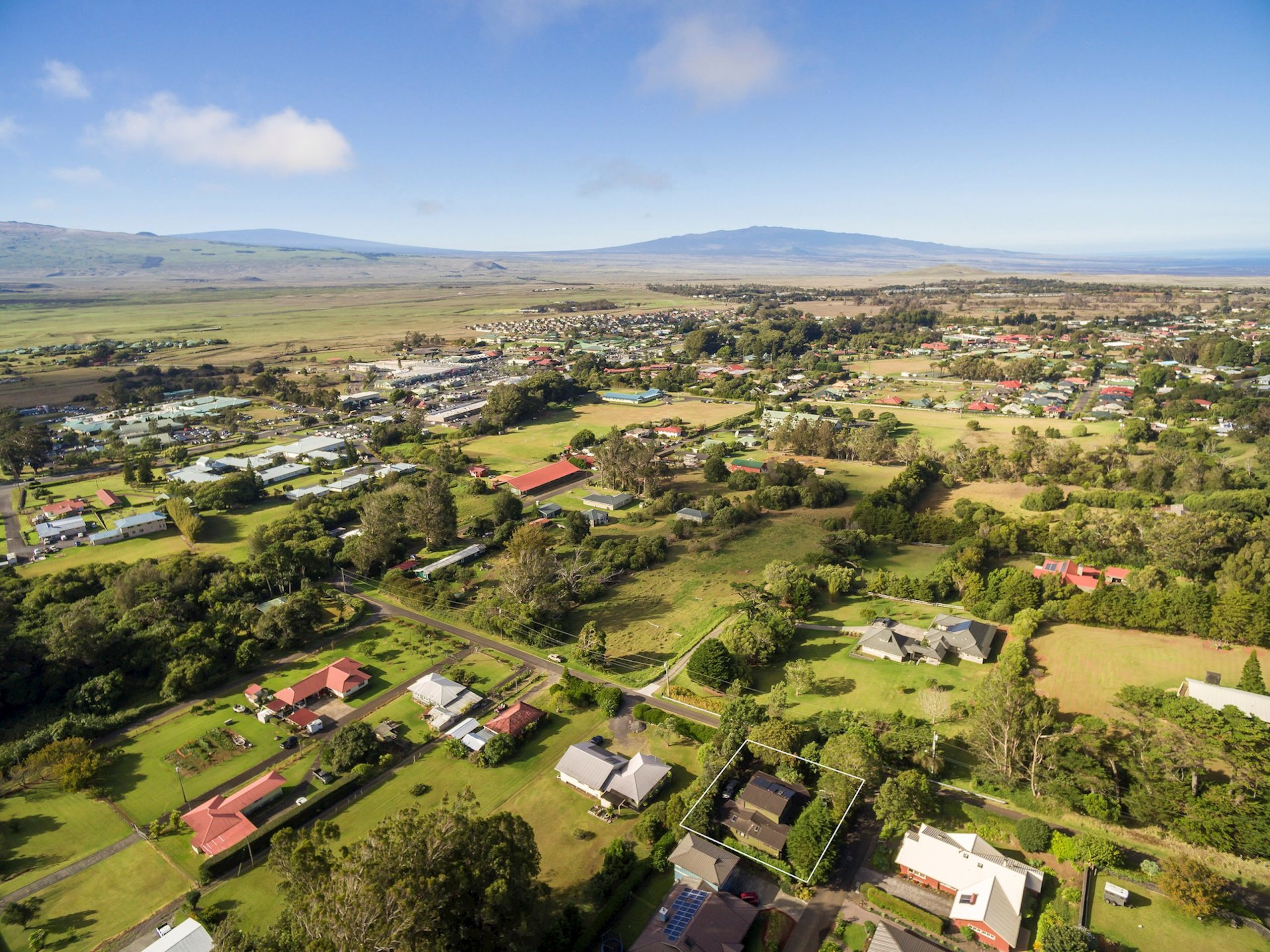 Located within 5-10 minutes of downtown Waimea, 2-Presidential Award-winning college preparatory K-12 schools, North Hawaii Community Hospital, 6 Farmers' Markets per week and all other services one could need.
