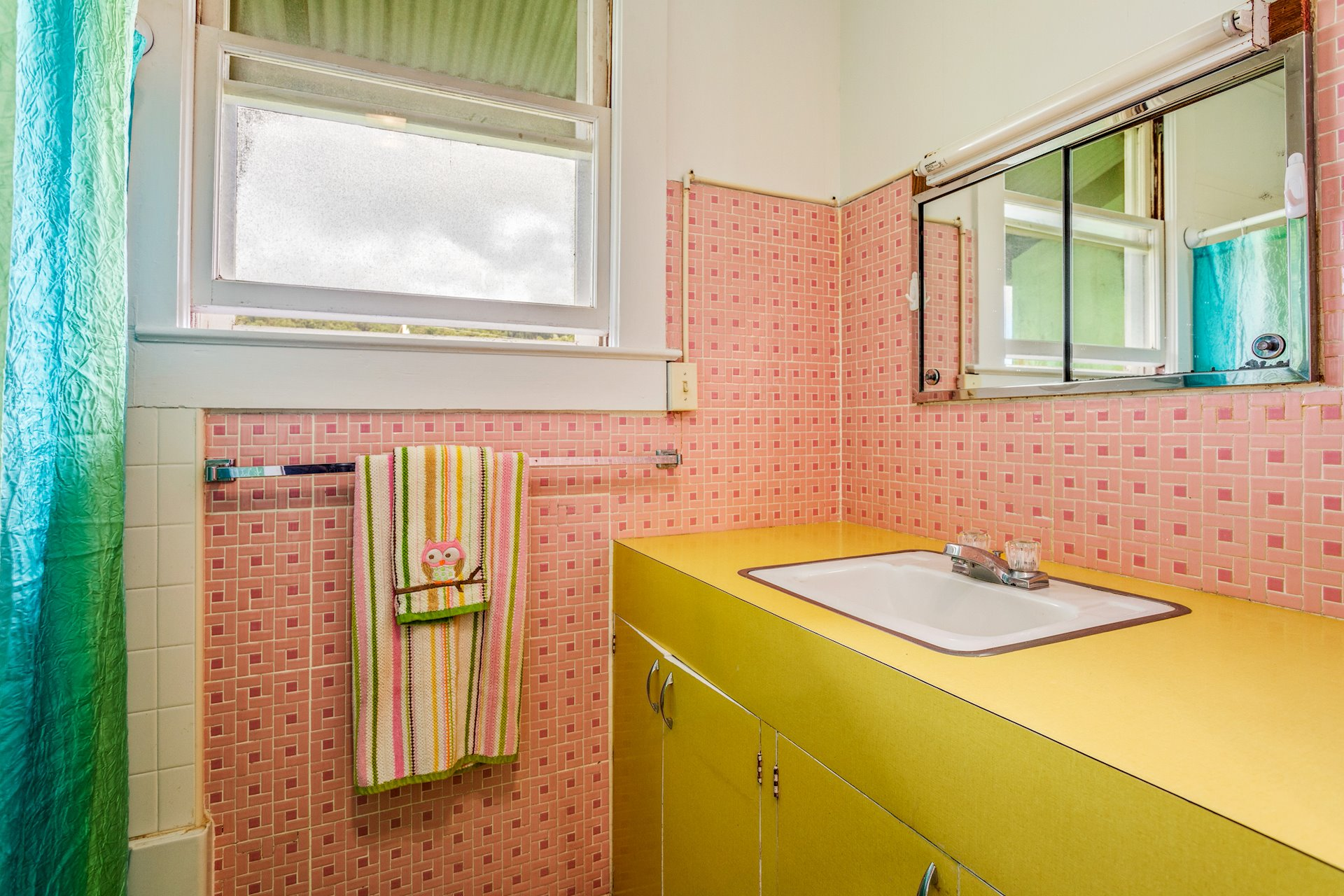 Bright and cheery bathroom