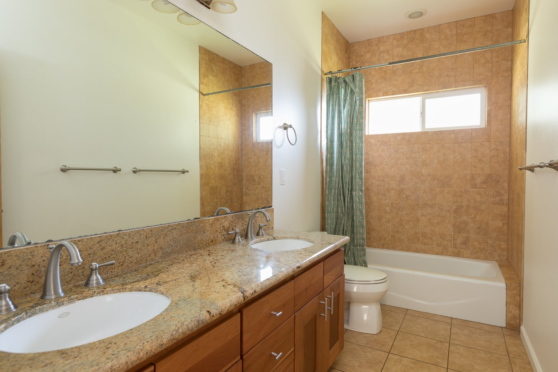 Each bathroom has double sinks. The same high quality finishes are used in all the bathrooms.