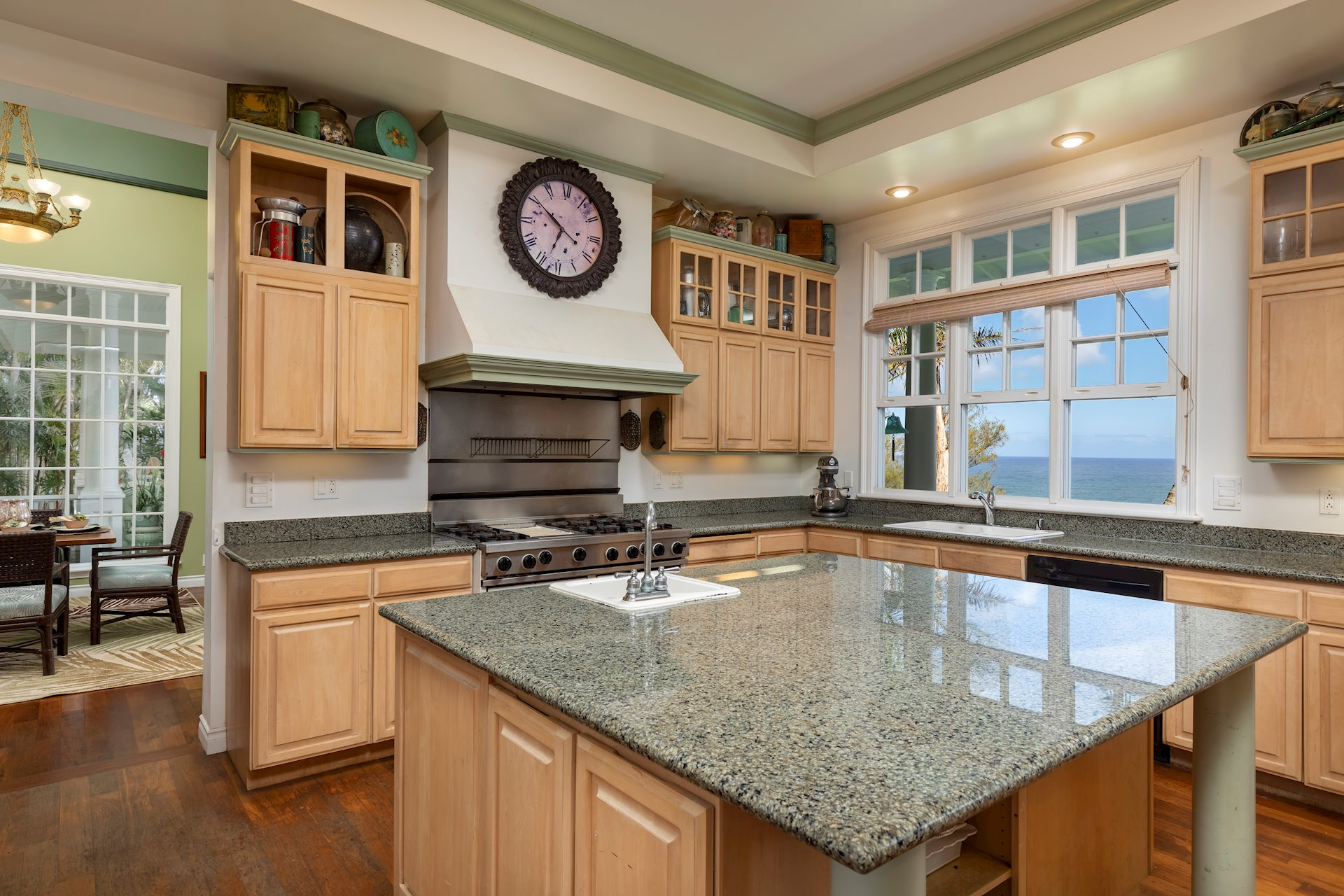 Ocean views from every kitchen window.