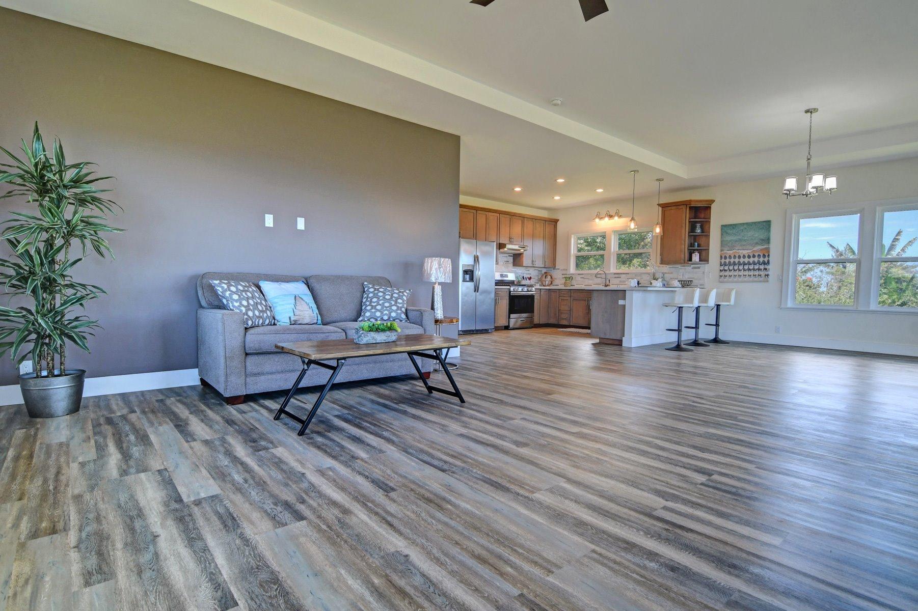 Spacious living room with incredible ocean views