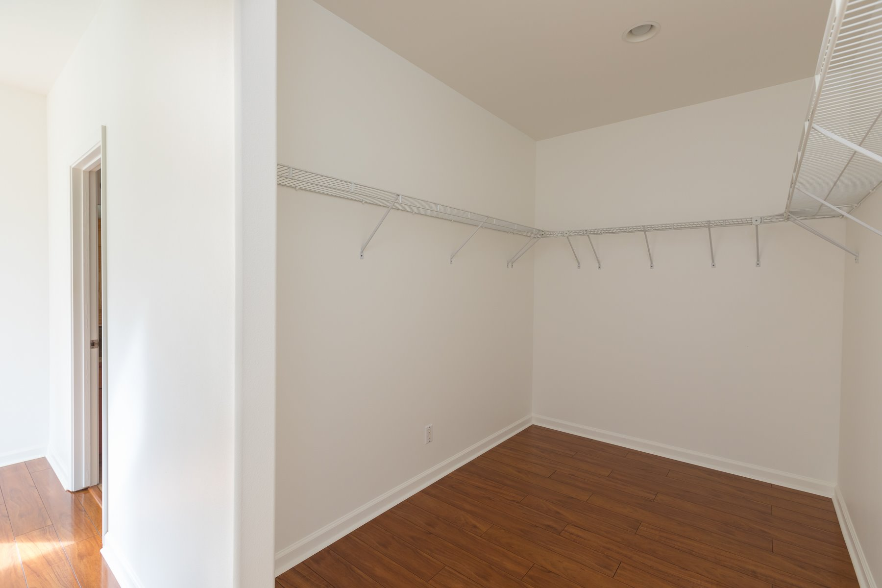 Extra large Master Bedroom closets in each house.