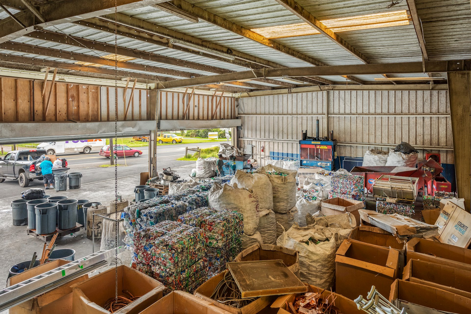 Warehouse interior- currently used by Atlas Recycling
