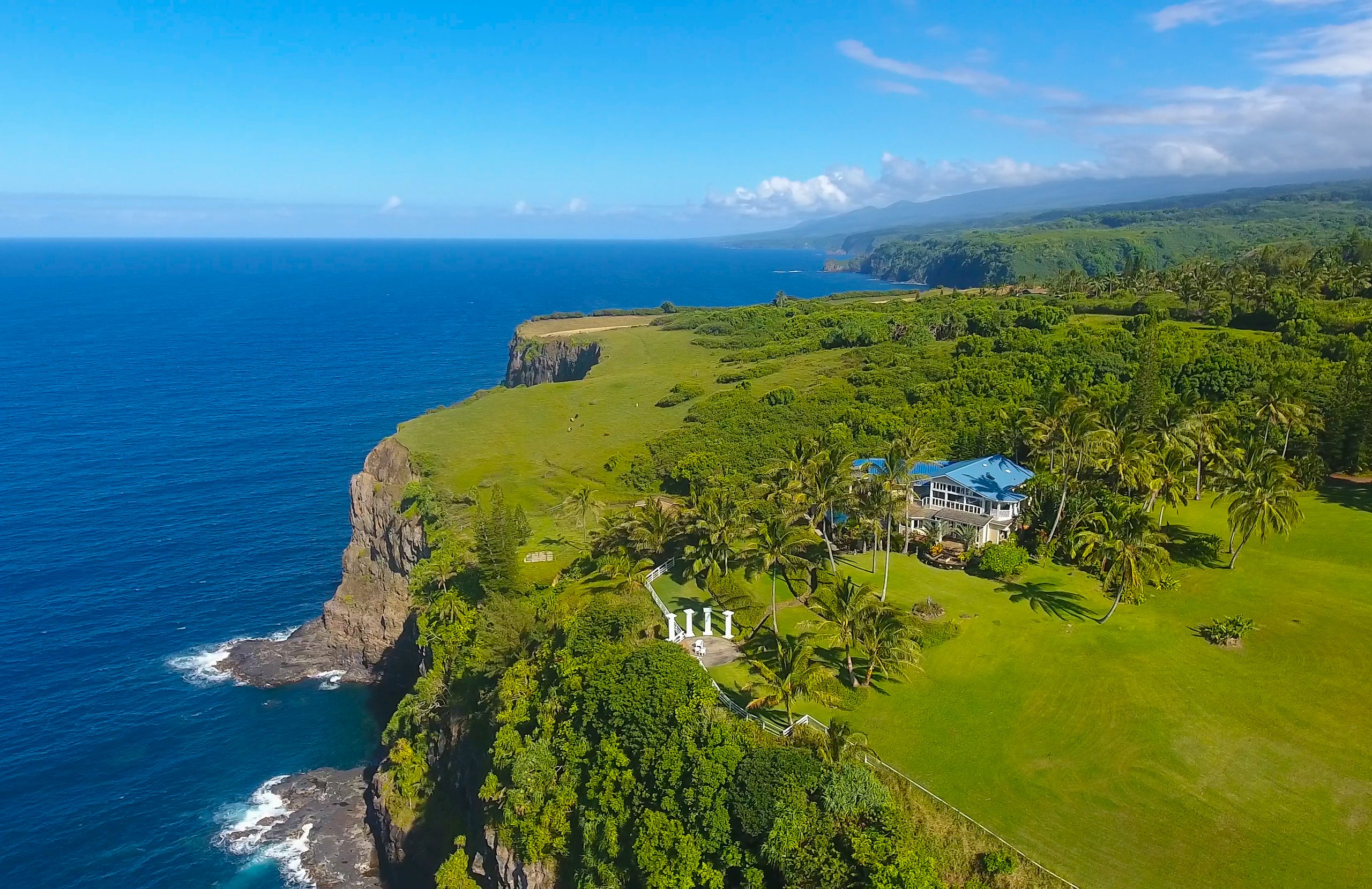 Discover Huelo Point! The beauty of this land is like living art. Currently the largest oceanfront home & acreage for sale on Maui. T...
