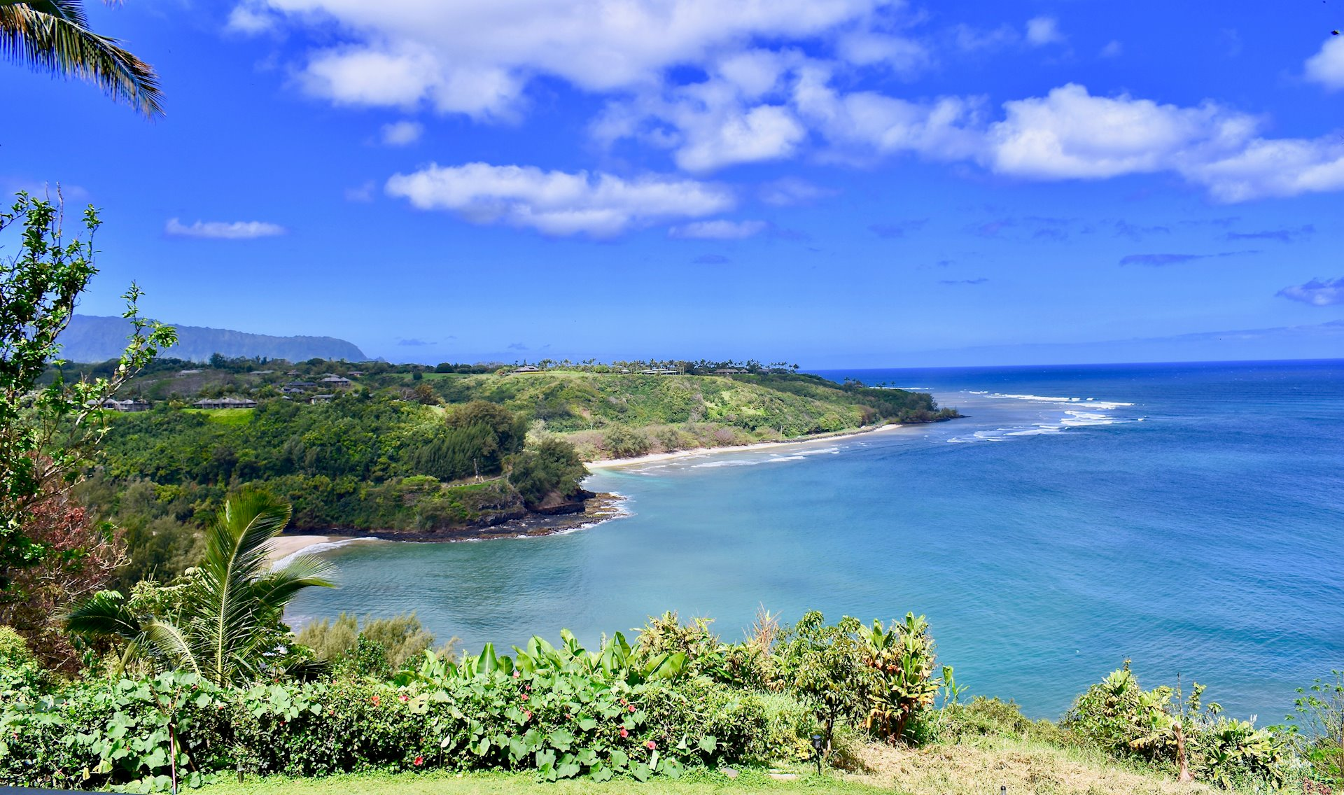 Located above Kalihiwai Bay, This estate offers breath-taking views of Kauais North Shore. 5.658 acres of spectacular views with a 4 ...