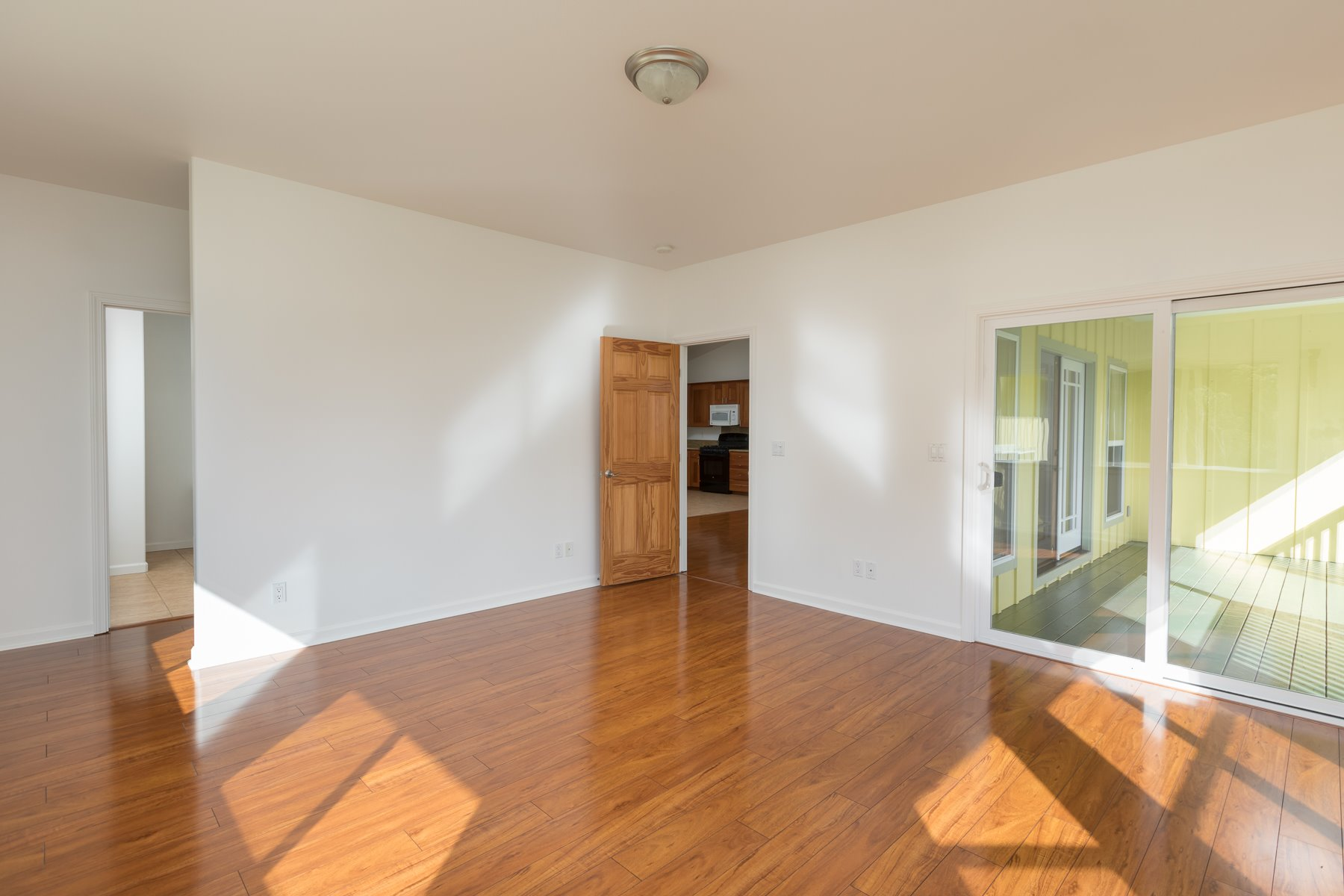 Master Bedroom leads right to lanai and left to the living room and kitchen areas.
