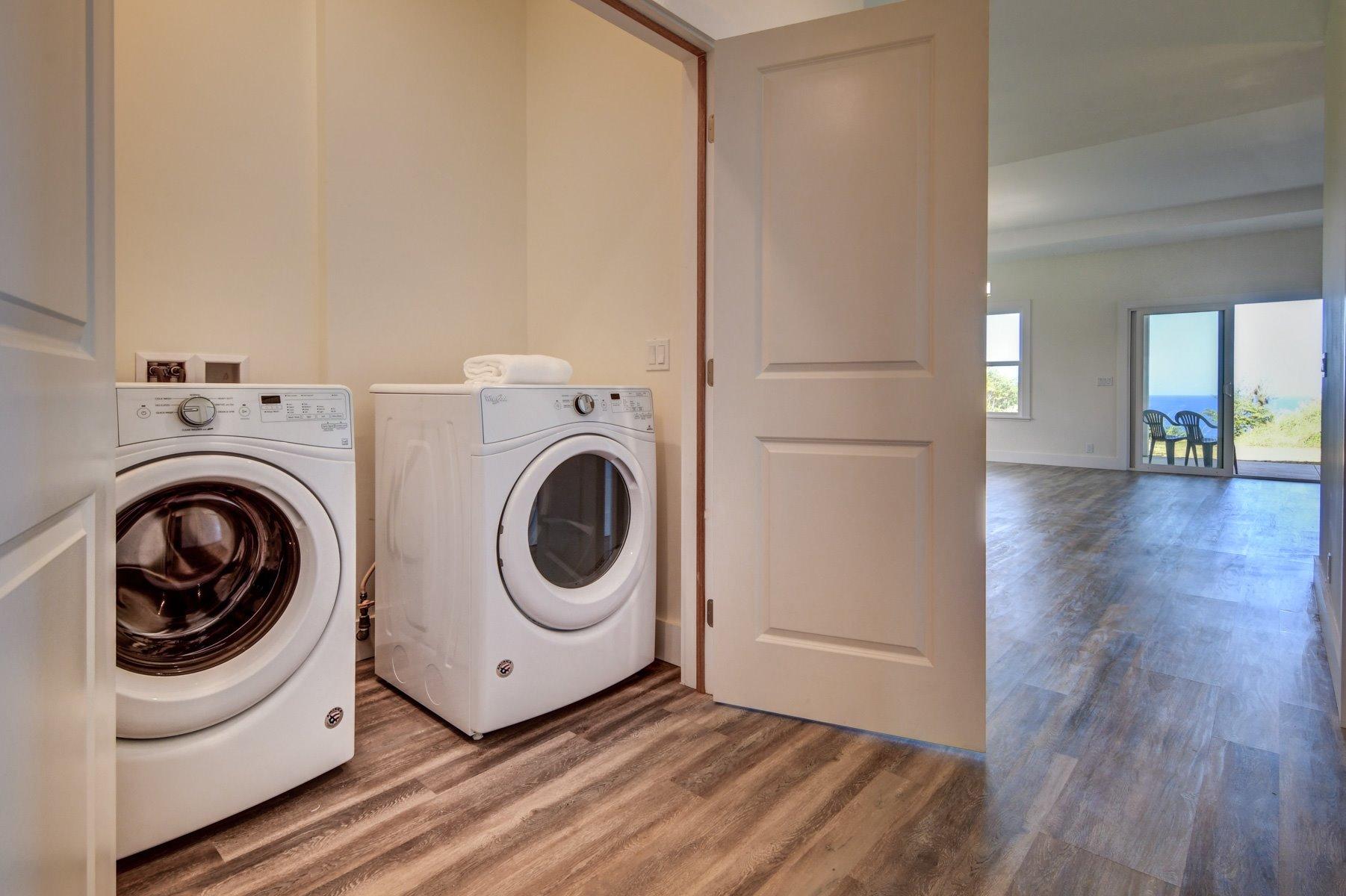 Convenient laundry closest near the kitchen