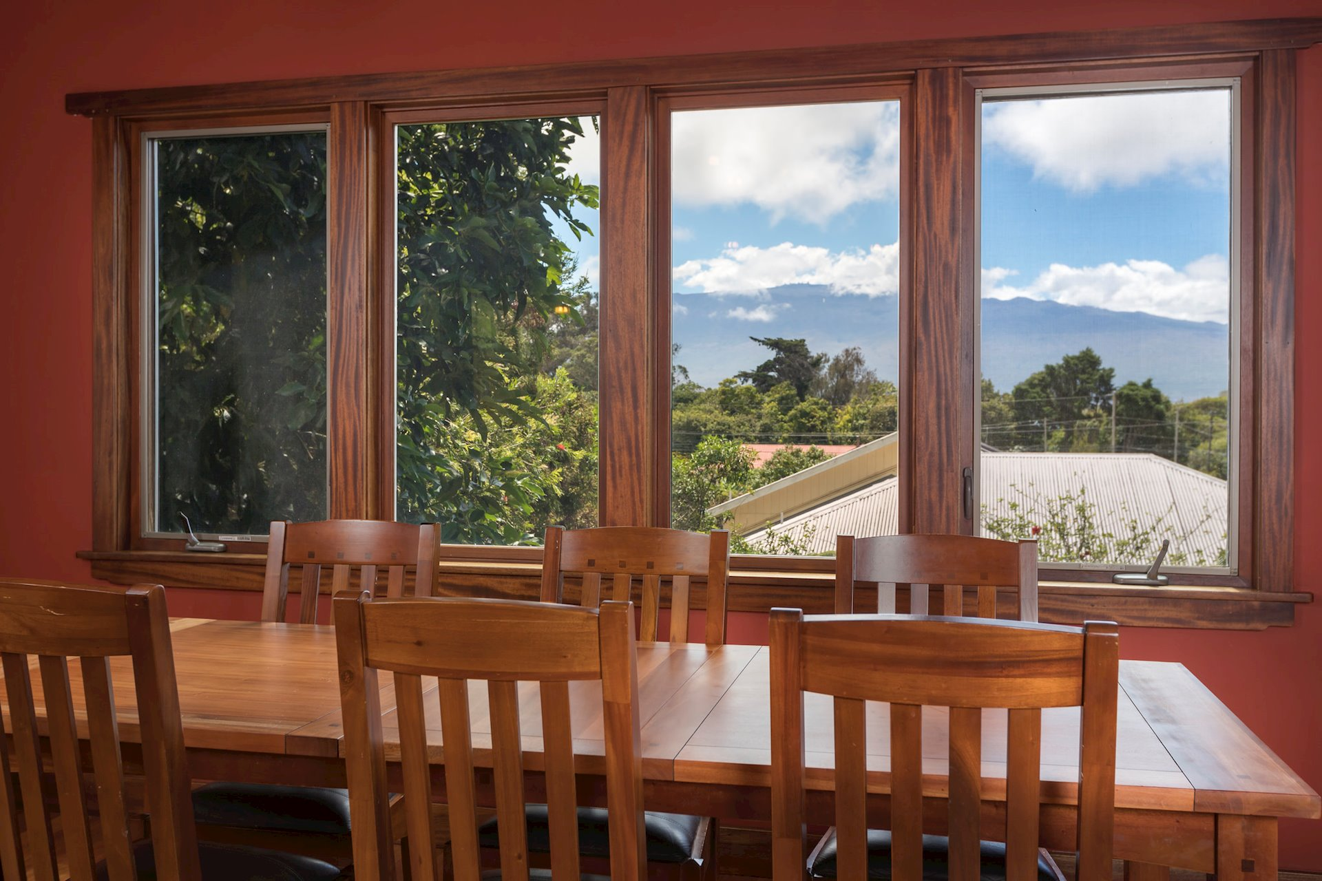 Views of Mauna Kea from the dining and Master Bedroom.
