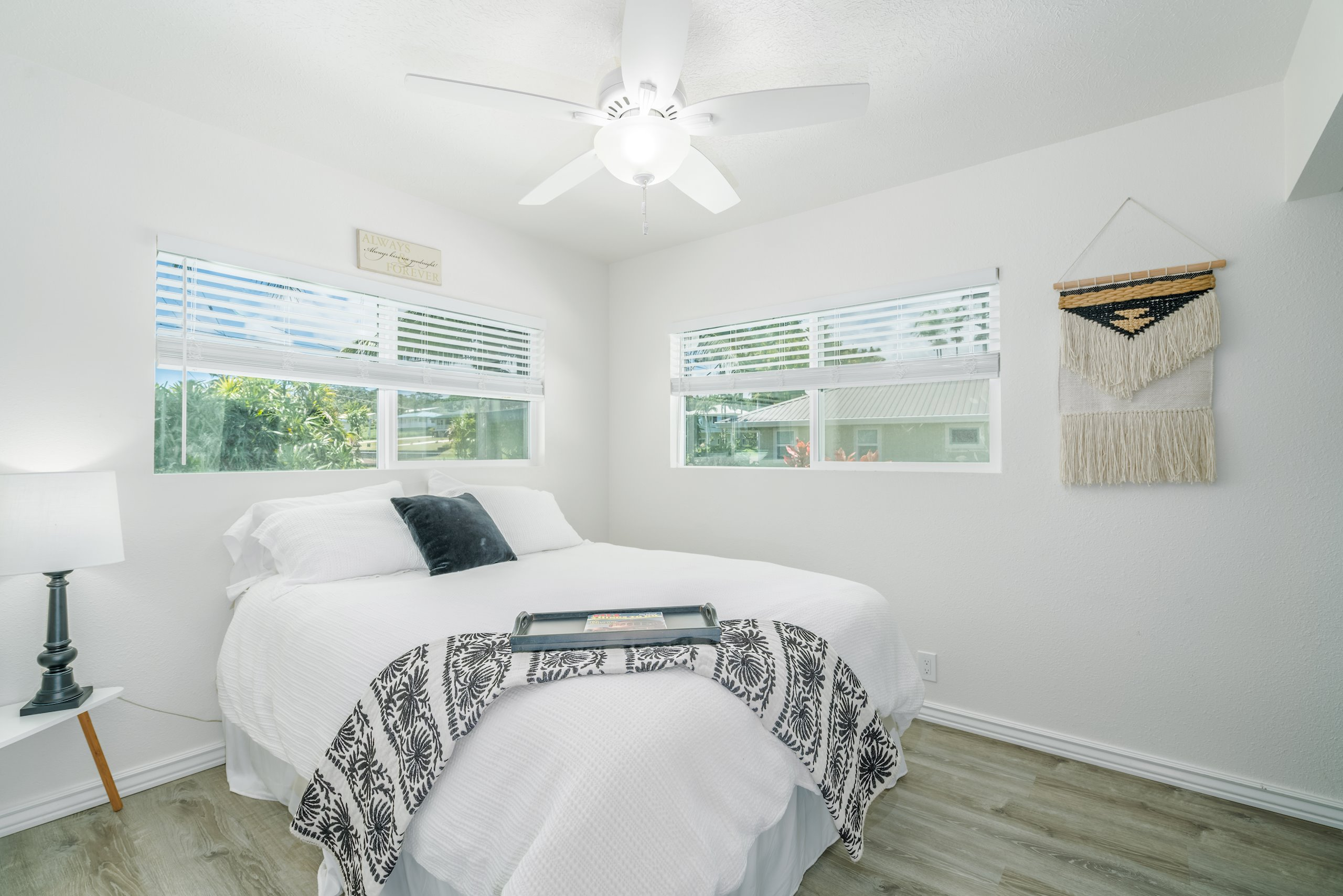 A guest bedroom (upstairs) across from master