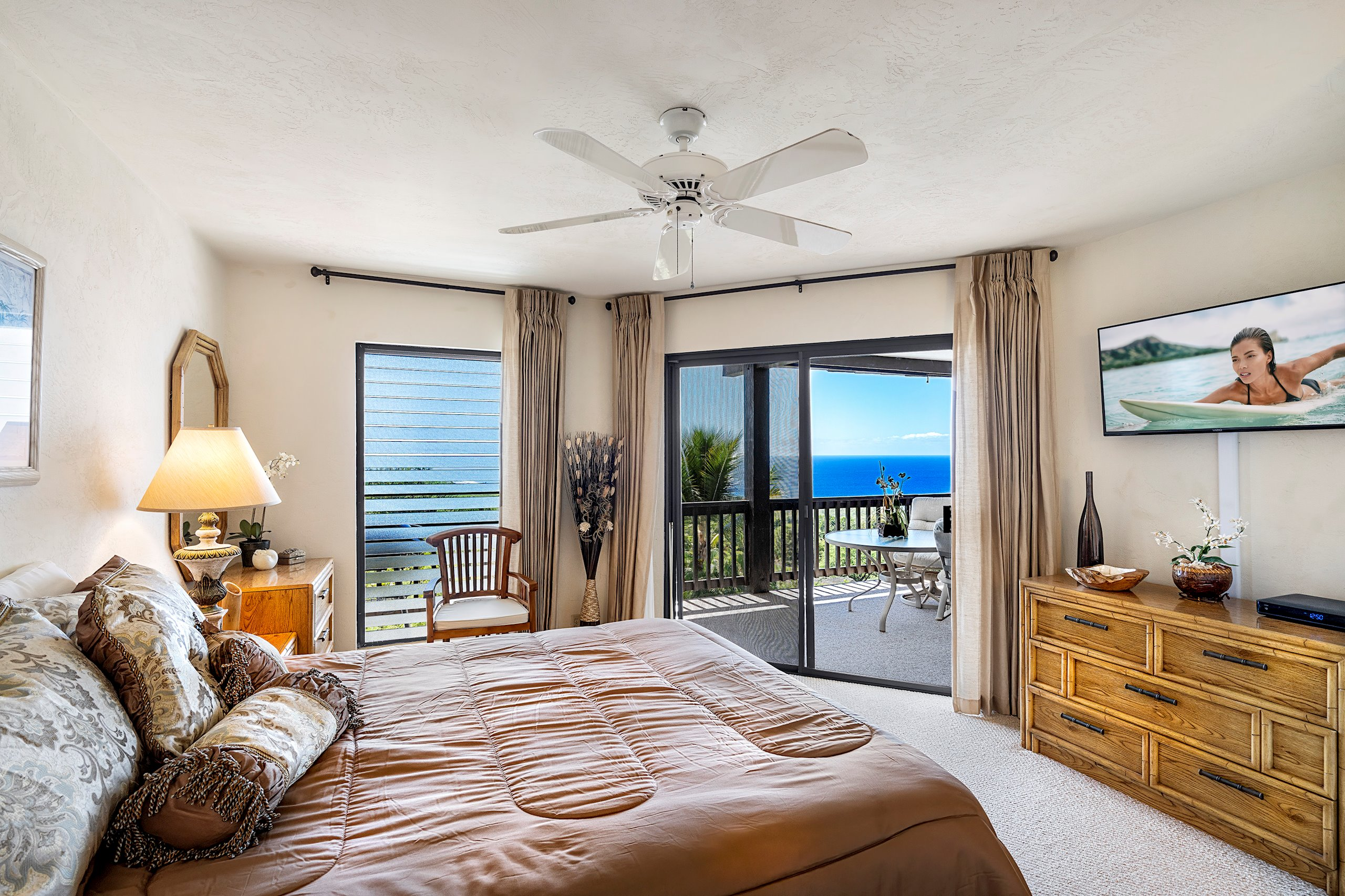 Master Suite with great ocean view