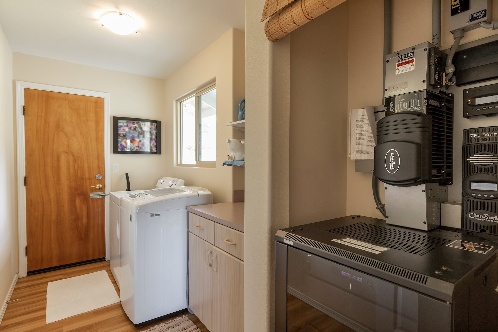 Laundry room with exterior access