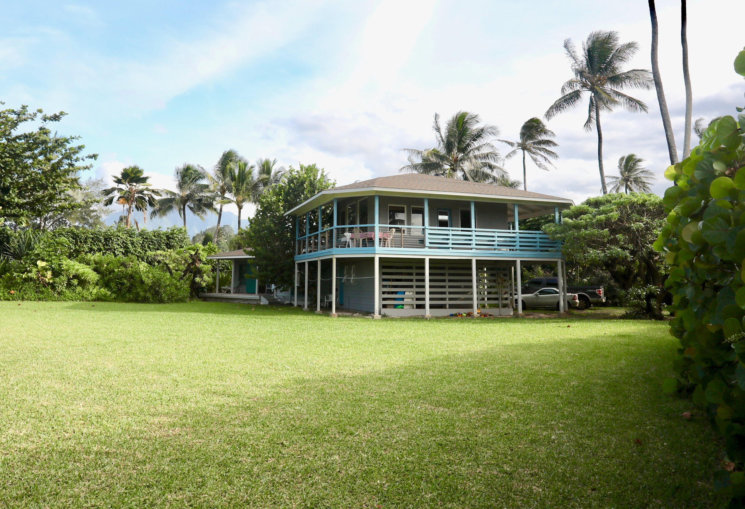 """Incredible location on the North Shore of Kauai. The private 3/4 acre property features a large sandy beach point. This is a rare opportunity to own beachfront property with the home being set back from the beach frontage.<br><br>Ocean and mountains views surround this quaint beach home. Large covered lanais extend the living areas. Extraordinary sweeping views from the dining and kitchen area with an open-beam ceiling providing an open space to see the beautiful pacific ocean and tropical reef. The home has an expansive lush green flowing grassy yard with palms trees flowing in the cool tradewinds.<br> <br>The property overlooks water enthusiasts of all kinds providing an array of waters activity. <br><br>Hale Kiloi'a is an exceptional property offered to the market for a fair market price.<br><br>Property is being sold """"AS IS""""<br><br>County records show a 1 bedroom home. The information herein may contain inaccuracies and is provided without warranty or guaranty of any kind and is not warranted or guaranteed. Agents and Buyers are encouraged to independently verify all information. A certified Appraiser should determine the actual square footage."""