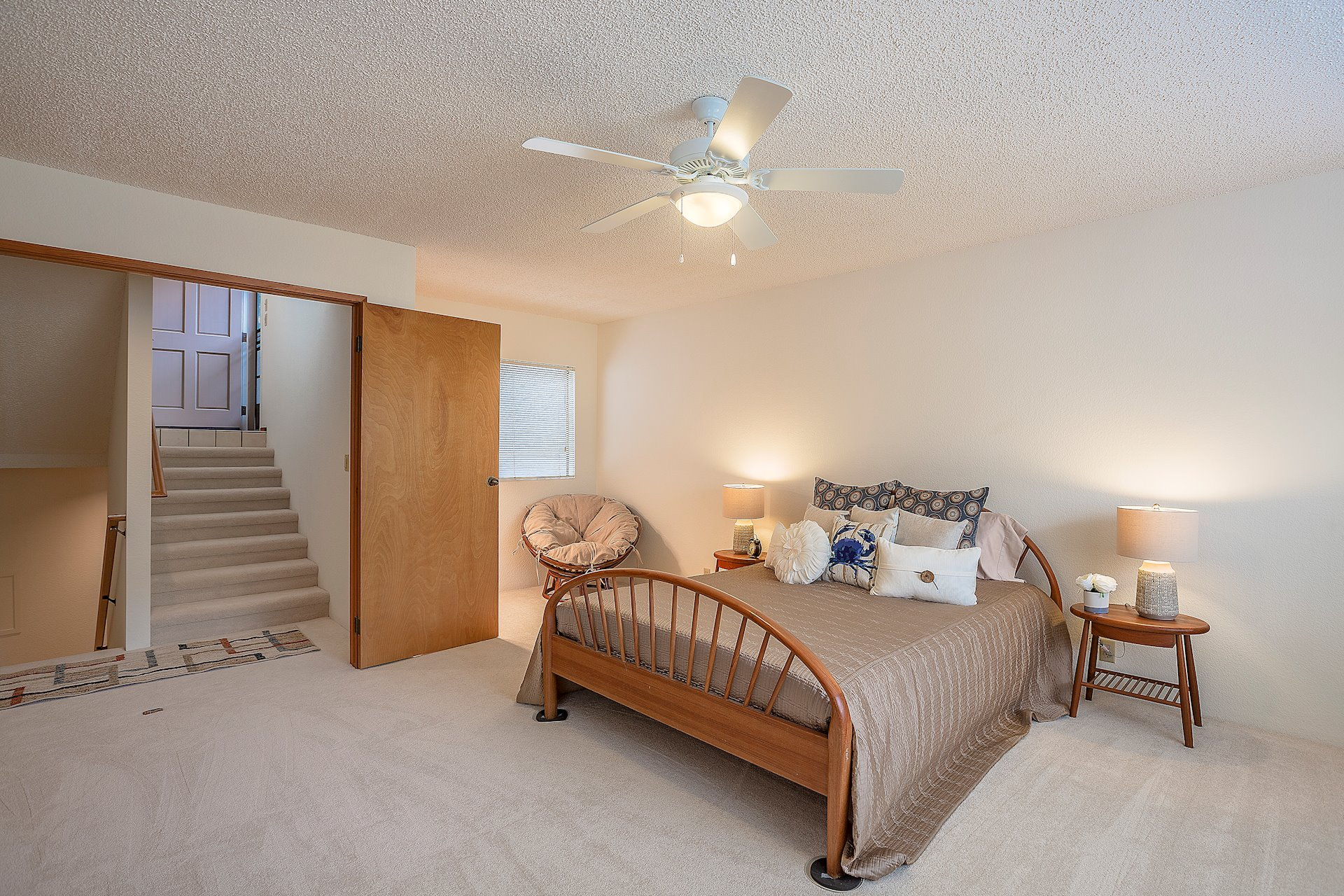 Master suite has its own level which is very spacious.