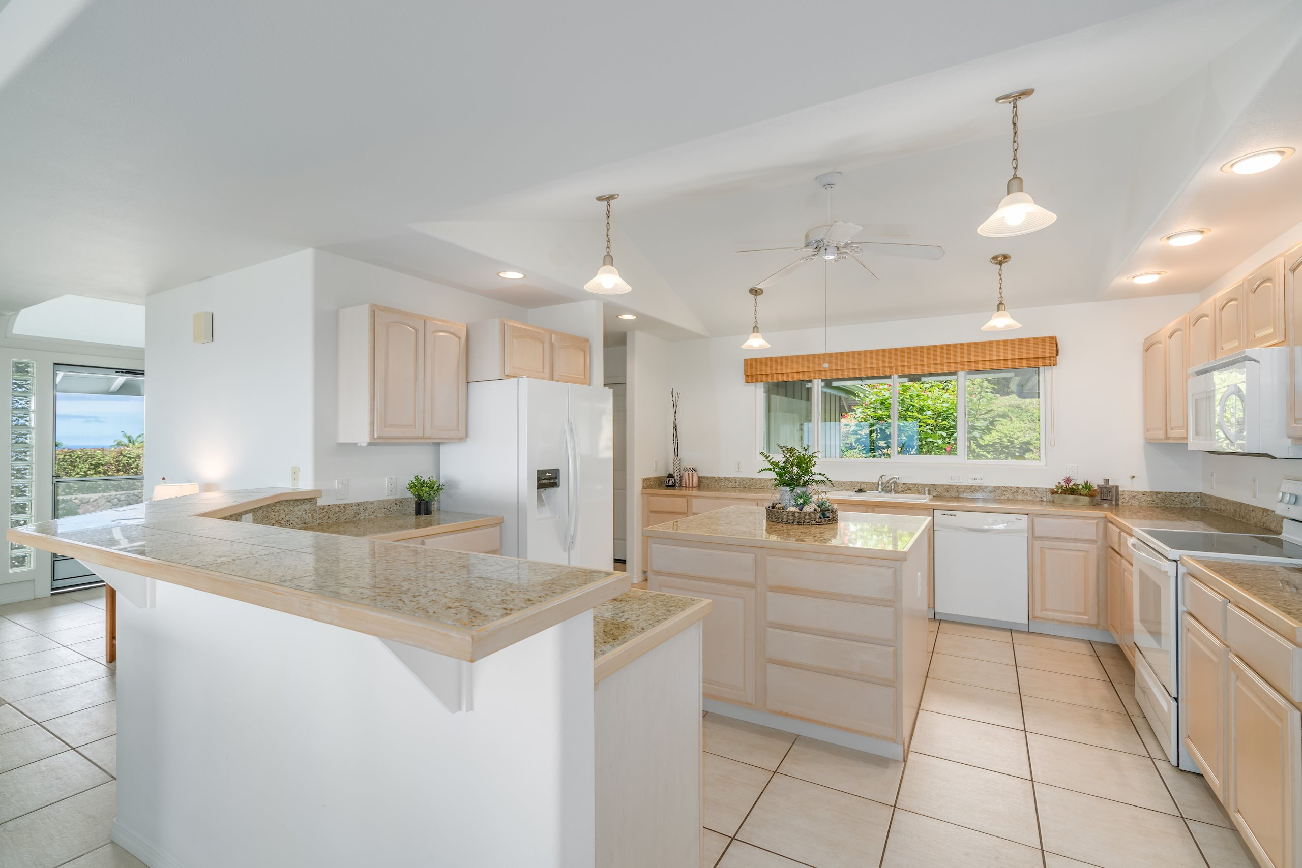 Large Kitchen with Eat Up Bar and Island