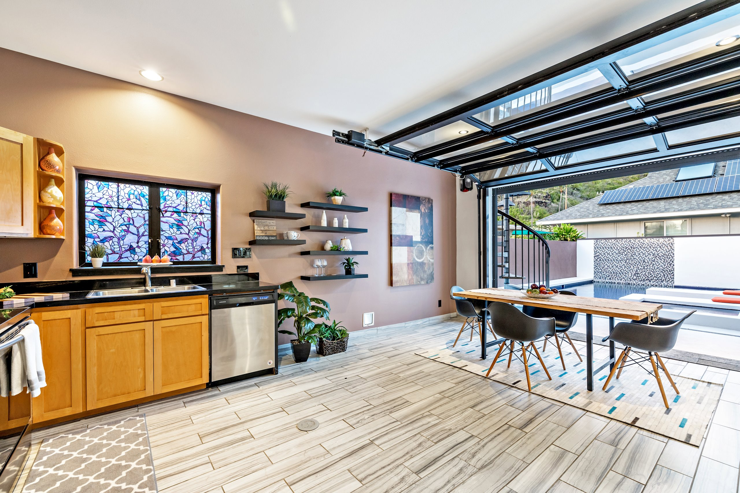 Kitchen and dining.  A great place to entertain!