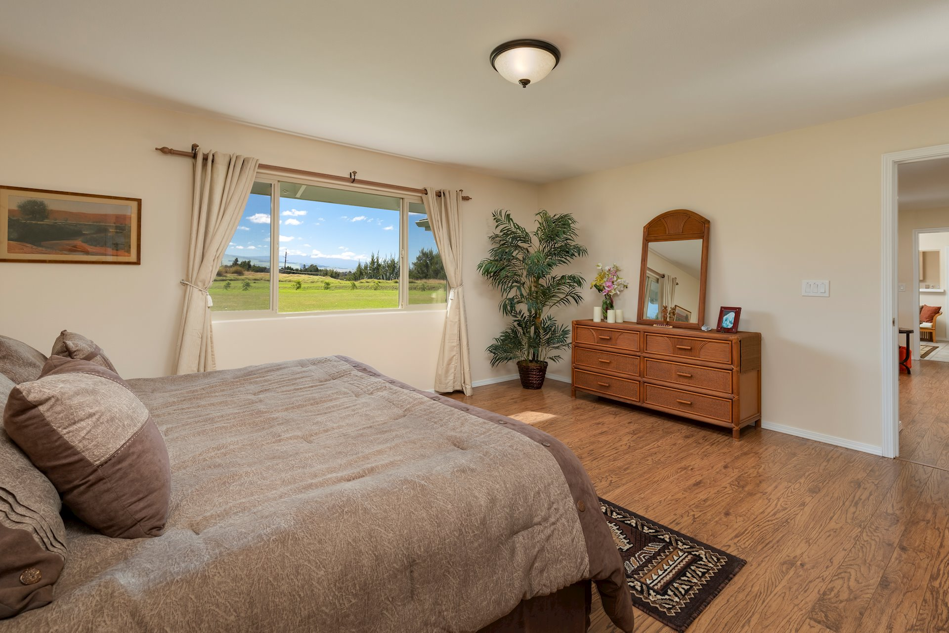 Master bedroom with more views