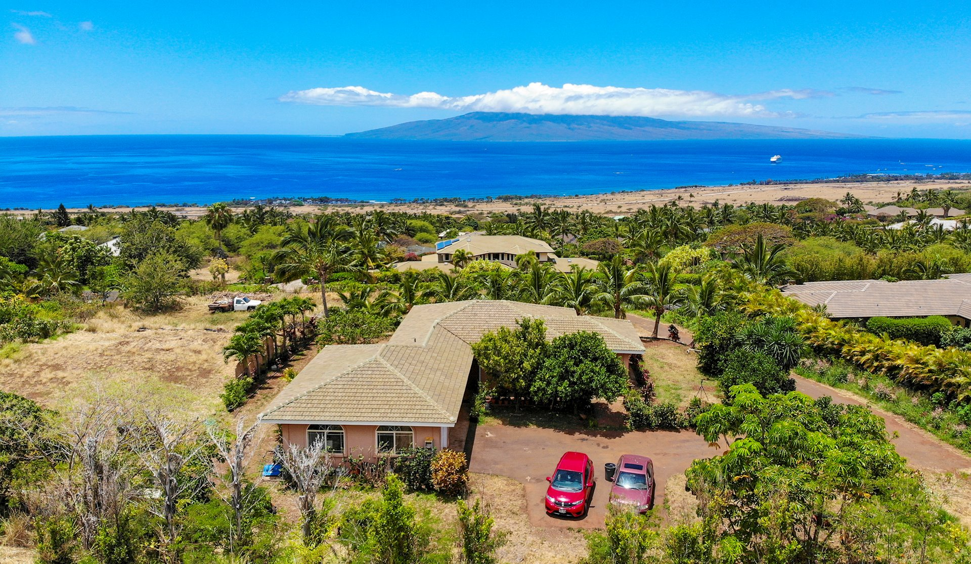 Huge Price Improvement!  This is the best DEAL in Launiupoko. Imagine the possibilities and make this incredible property your own!  Perched on the top row of Launiupoko, sits the best-priced home in one of Maui's most desirable neighborhoods.  This quaint, two-bedroom CPRed cottage has panoramic ocean views and is perfectly situated on a one-acre lot. The possibilities to make this home the ultimate Maui property are endless.  There is plenty of room to add a wrap-around lanai, pool and bountiful garden, truly taking advantage of the never-ending ocean views.  Launiupoko is the perfect spot - with its proximity to the beach, walking trails, and the night life, restaurants and shopping of Lahaina just minutes away.  This is an incredible opportunity to own in this magnificent neighborhood at a discount price.