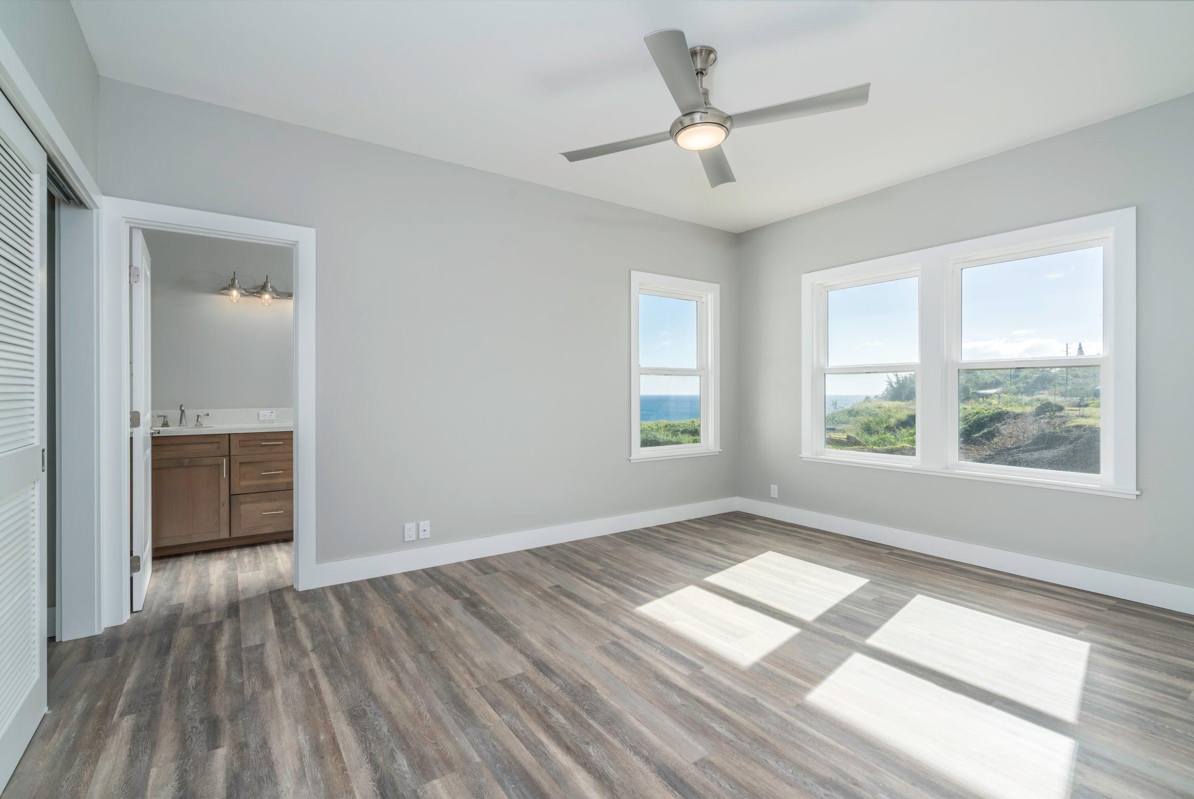 Master bedroom suite with ocean views. Full master bath through the left door.
