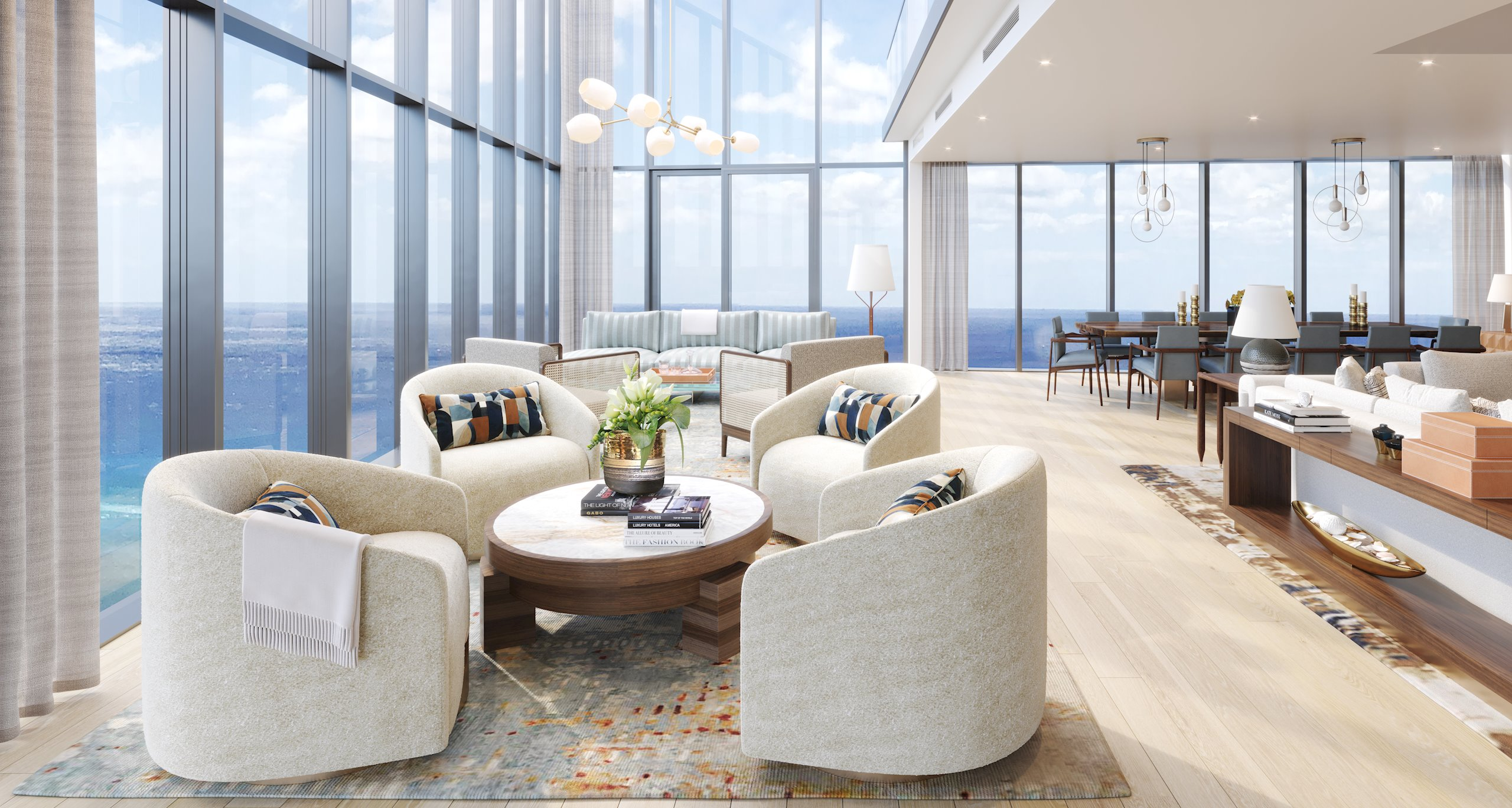 Construction will soon begin on this brand new Penthouse at The Ritz-Carlton Residence Waikiki Beach. This spectacular corner locatio...