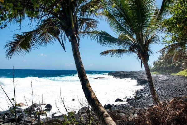 This is an oceanfront Hawaiian Garden of Eden! Rarely if ever do properties, even in Hawaii, combine so many desirable and unique features. With 530 ft. of beautiful ocean frontage, including a spectacular black sand and pebble beach cove, this 3.8-acre parcel comprises two distinct sections&mdash;a lower lushly forested park area adjacent the beach cove and an upper bluff with stunning panoramic ocean vistas perched 25 feet above. Both sections are level and suitable to build on or leave just as they are. Thinking of building a retreat center or your dream home? This truly is the ideal parcel. Design a beach park set back from the shoreline, set up bamboo Hale dwellings with interconnecting walking trails meandering through the monkeypod, avocado, noni trees, and lower foliage, sculpt a waterfall with ponds for quiet contemplation, or build an activity center or your dream estate on the upper bluff. With this property, your imagination and the sky are the limits. With about 40 inches of rain, a year compared to 80 inches two miles up the road, the weather here is sunny and perfect.<br>This is the only parcel of land with over 500 ft of ocean frontage and beach cove remaining on the Puna Coast. The property is zoned RA.5 and can be subdivided to your specifications. Conservation land comprises the northern boundary of the property so privacy is guaranteed. A professional topological map is available and an archaeological and Historic Site study has been done that fully allows development and building. There is an installed county water meter, graded roadway connecting the lower and upper sections, phone and electricity available at the street&mdash;or go solar and bask in the FREE energy of sunny Kalapana.<br>This is a secluded, beautiful and peaceful place, yet only 20 minutes to the great restaurants, shopping and farmer's market of Pahoa town, and 35 minutes to historic Hilo and famous Princess Lili'uokalani Gardens.<br>Invest in yourself and call Hawaii home.