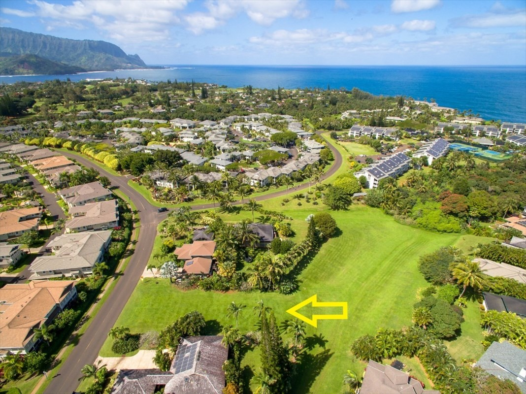 Over-sized Princeville lot bordering 1.69 acres of open space!  This 12,318 sf. vacant lot is located in the heart of Princeville, and adjacent to a beautiful, open zoned green space, that belongs to the Princeville Homeowner's Association.  Build your dream home and enjoy an expansive backyard with great views and privacy!