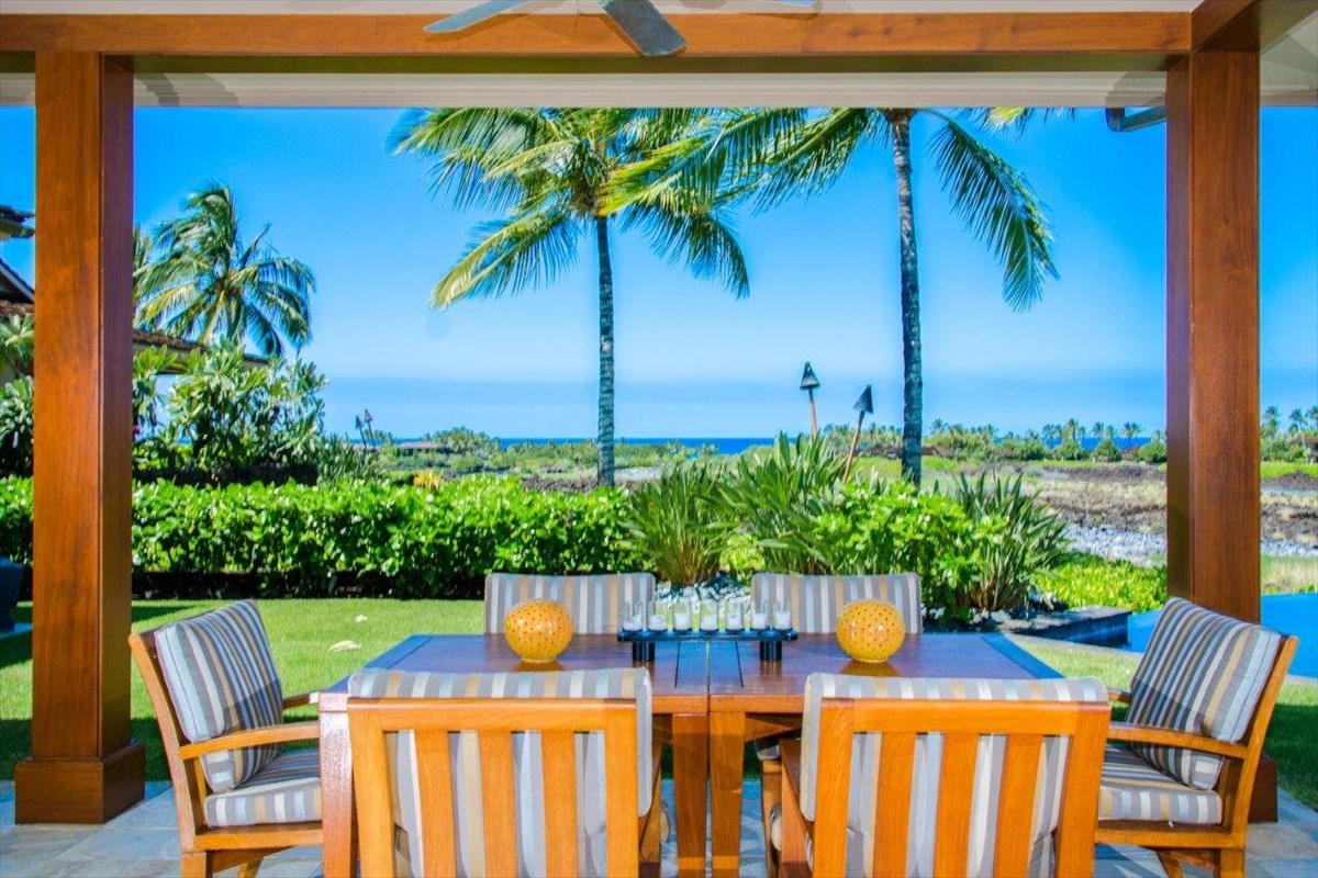 "LOCATION LOCATION LOCATION. Overlooking the #7 green of the member's only Keolu golf course, close to the ""core"" of Hualalai, with st..."