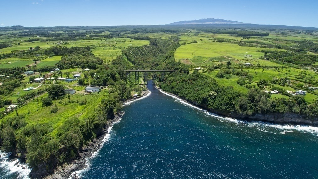 NOTE: Seller is in process of consolidating and re-subdividing this lot along with the contiguous TWO WAREHOUSES Lot MLS 630570-LOT 2-C.  County records indicate this subject property is 3.6  acres however when consolidation is completed, this lot will be 5.30 acres of OCEANFRONT and MLS 630570-LOT 2-C will be 3.052 acres containing the two warehouses.  SEE ATTACHED CONSOLIDATION AND RE-SUBDIVISION MAP. This SUBJECT PROPERTY is Hakalau Point Zoned MG-5 which is General Industrial and has 13 water meter commitments previously obtained per the Seller and thus, the possibility of separate parcels at some point in the future. BUYER AND BUYER'S AGENT TO DO THEIR OWN DUE DILIGENCE IN THIS MATTER.  The property is zoned Industrial MG-5a; consult County of Hawaii allowed uses for this zoning as it is very broad. Some examples of possible usage:  Ag and Ag processing, Greenhouses, Bakeries, Catering, Farmers' Markets, Retail, Public Uses. SEE ATTACHED LIST. Also see MLS 630983 for possible pairing with the subject property.