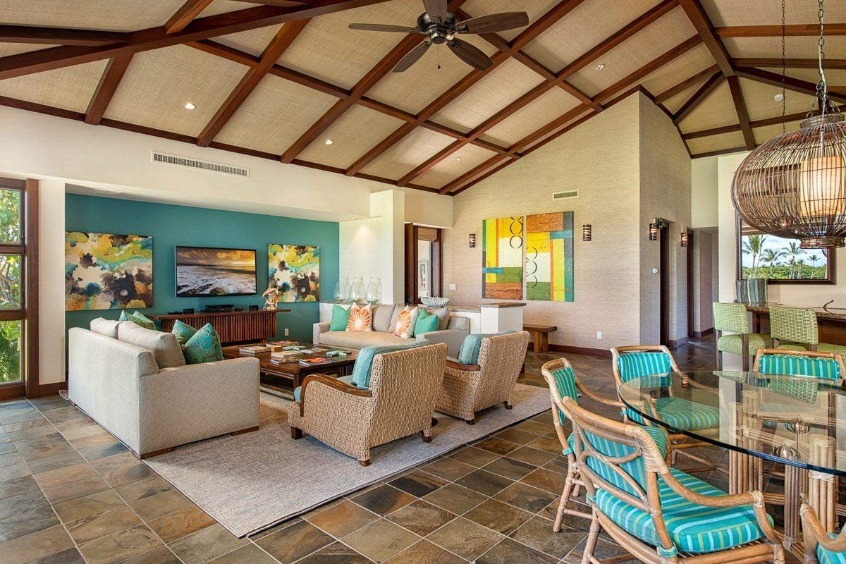 Hualalai Resort   Fairway Villa 116D<br><br>A rarely available, 3 bedroom, 2nd floor Fairway Villa.  This villa boasts views of the ocean, the Island of Maui, and the Kohala Mountains. An expansive great room concept with spectacular vaulted ceilings and a colorful beachy aesthetic with interiors by Henderson Design. Complemented with luxury mahogany finishes and granite countertops. The kitchen features a Gaggenau double oven, Viking four burner induction cooktop, Sub-Zero refrigerator, and walk-in pantry. The master bedroom suite shares the lanai's sweeping ocean and golf course views. The master bathroom includes dual marble stone sinks, walk-in shower and large soaking tub with access to a private covered outdoor atrium.<br><br>The upstairs location maximizes privacy, views and daylight. Additionally, this spacious corner villa overlooks the 15th hole of the Hualalai Golf Course. The Fairway Villa neighborhood shares a community pool and is within walking distance or a short golf cart ride to the immensely popular member only Canoe Club and ocean activities as well as the other resort amenities including the sports club, spa, tennis and golf.
