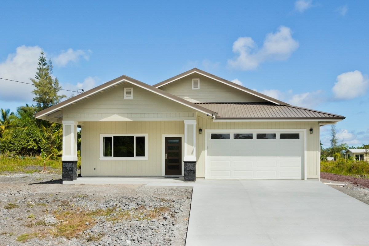 Brand new stunning home with an open concept 3 bedroom 2 bath floor plan. Total 2,602 sf under roof, spacious living room, modern light fixtures and top line Samsung stainless steel Appliances in the kitchen features custom contemporary soft close cabinets, upgraded quartz countertops, island sink. High ceilings with recessed lighting in the living room makes it a great gathering place for family and friends. As you enter master bedroom you may find His and her walk-in closet with shelves. A large bathroom featuring a spa tub, walk-in shower and double sink. Step out the back lanai to feel nature ocean breeze or watch star at night. Come to check this house and make this functional stylish house to your sweet home………. <br><br>Remarks: <br>NEW construction custom contractor built home in HPP <br>* Fully insulated ceilings, interior and exterior walls<br>* Samsung Stainless steel kitchen appliances (Refrigerate,Stove,Dishwasher,Microwave,Washer and Dryer)<br>* Pendant lights over breakfast counter and recessed lighting throughout the home<br>* Upscale ceiling fans<br>* 10 foot ceiling throughout with vaulted living areas<br>* Open concept living with desirable split floor plan<br>* Solar hot water heater<br>* Vinyl waterproof flooring in kitchen and laundry<br>* Private water well with remote wi-fi controls and UV filtration<br>* garage door with automatic opener<br>* Laundry room off kitchen features spacious pantry with built in shelves<br>* Milgard dual glazed windows<br>Master features:<br>* Walk-in Shower tiled to ceiling <br>* A striking walk-in natural stone shower in master bath<br>* Dual vanity  <br>* His and her walk-in closet with built in shelves <br>* Sliding glass door to back lanai<br><br>For HPP fees and road maintenance information, please check https://www.hppoa.net/, call: 808-966-4500, or email: info@hppoa.net<br><br>Please note security camera is not including in the sale.