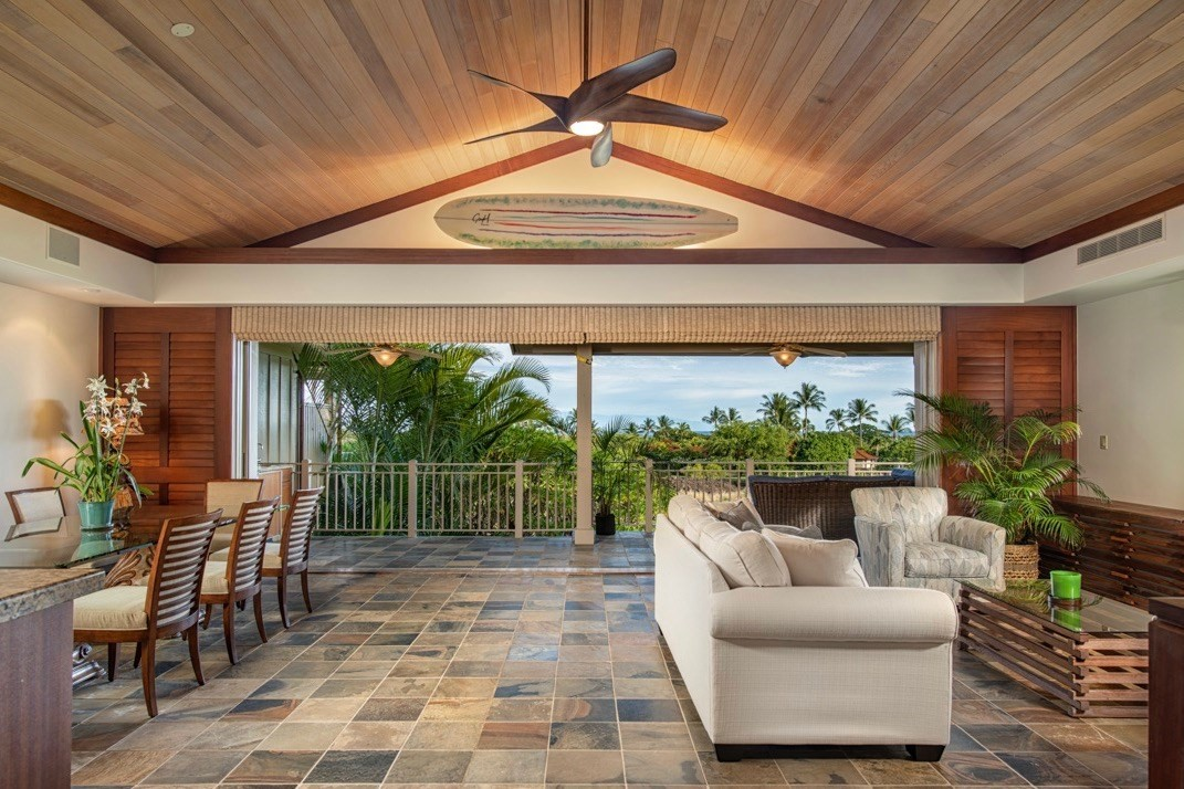 HUALALAI RESORT   KAULU 129D<br><br>This rarely available end unit and largest Kaulu Villa floor plan feature expansive entry windows and vaulted ceilings throughout the top floor, creating a spacious and bright living area. The great room concept expertly connects the kitchen, dining, living and outdoor covered lanai/BBQ area. Watch the sunrise on the wrap-around breakfast lanai, located off the kitchen and enjoy direct views of the ocean, Maui and Kohala Mountains from the living area. <br><br>Located downstairs are an additional guest bedroom and the spacious master bedroom suite with a spa-inspired master bathroom featuring dual sinks, large soaking tub, walk-in shower, and private outdoor shower. The downstairs retreat features a wet-bar and two full-wall pocketing doors, allowing a superb and unique connection to outdoor living. Recent updates include new air conditioning systems, paint throughout and updated furnishings.<br><br>An exceptional opportunity to own one of the very best properties in the neighborhood.