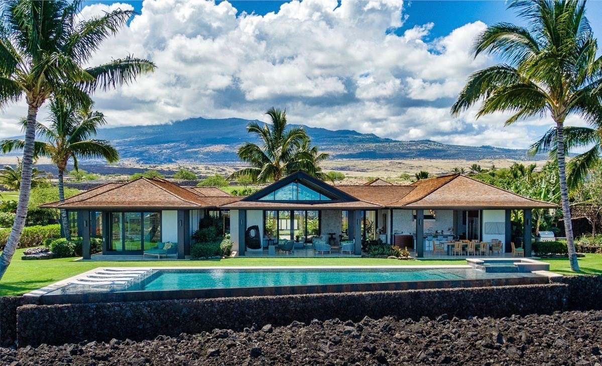 HUALALAI RESORT | One of a kind three year old Hualalai home at the end of a lovely cul de sac, furnished to perfection by the curren...
