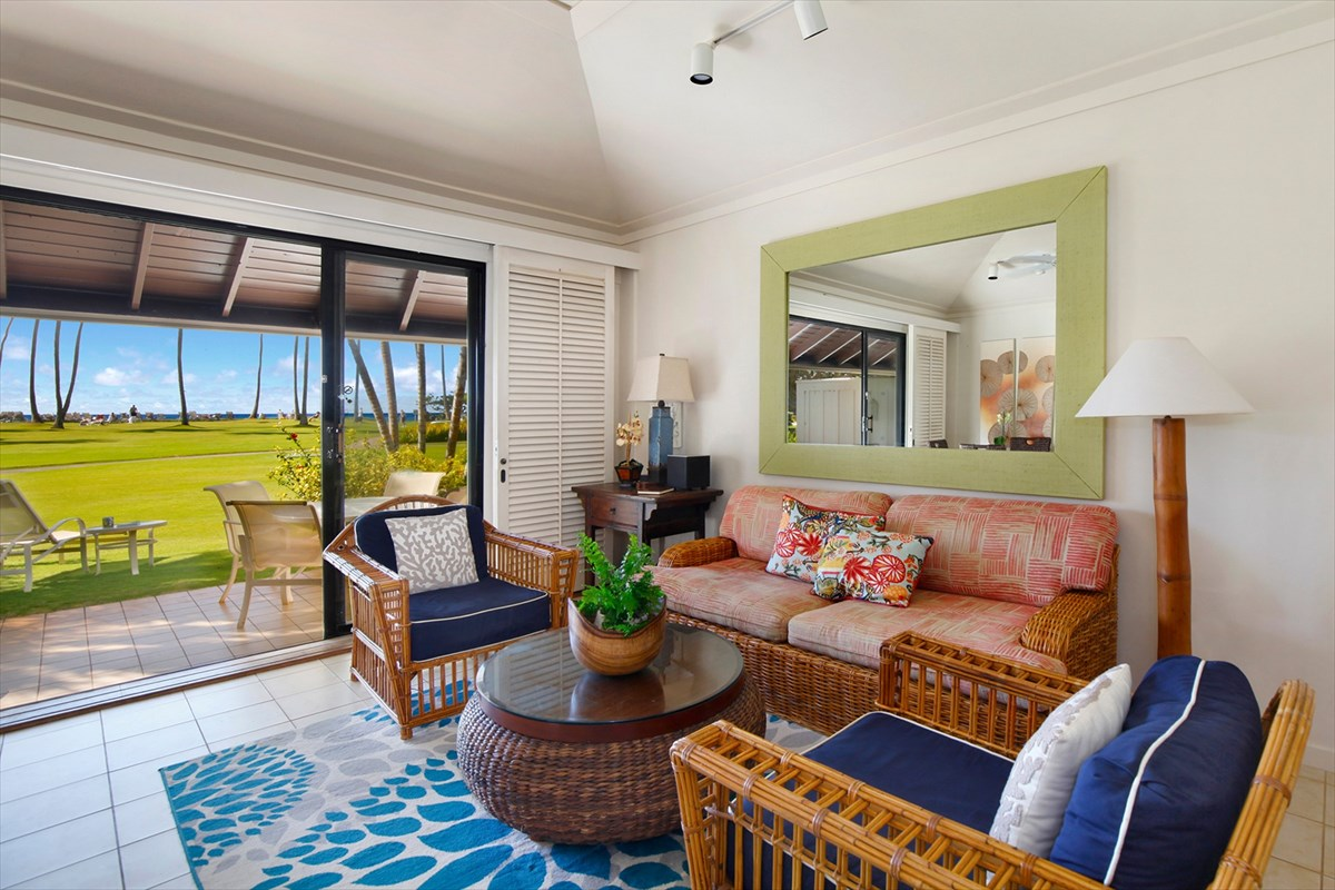 Many people believe that building 25 commands the premier location at Kiahuna Plantation. The 3 units that comprise this building are provided with a front-row seat on the grand lawn of Kiahuna Plantation where ocean views over the manicured grassy space are perpetually on display.<br><br>Unit 165 is a classically appointed within a beach house look and feel. Interiors are fresh and functional while surfaces, inclusive of tile floors and granite counters are practical for this environment. High ceilings in this single level building are accentuated and keep the space breezy and comfortable.<br><br>Features of this listing include:<br>Approximate Interior Area: 640 square feet<br>Interiors: Fresh white walls, tile flooring, granite counters, white appliances, walk-in shower, casually-beach furnishings<br>Amenities: Beach, Orchid Gardens, Access to Poipu Beach Athletic Club for pool, fitness, and tennis.<br><br>Secure your ideal island home here at Unit 165 at Kiahuna Plantation.