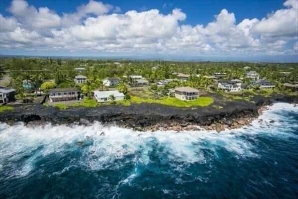 Located on the magnificent, still raw and undeveloped coastline of the district of Puna on the Big Island of Hawaii, this oceanfront lot is prime and just right for a future home exuding privacy, romance and solitude; ready for you to create a complete oceanfront private residential compound.  Nowhere else in the entire State of Hawaii will you find a more affordable true oceanfront location for sale at this price.  The neighborhood of Paradise Ala Kai encompasses many high end luxury homes and continues to grow as one of the Big Islands true oceanfront communities.   The dramatic panoramic ocean and rugged coastline views of the unspoiled Puna coast greet you strongly at this 17,424 sqft. perfectly level, cleared, prepped and easy to build lot. Already surveyed and additionally with an existing still valid shoreline survey and a modern residential design rendering from a prestigious Oahu architect, this is a complete high level package rarely seen.  The ocean view stretches along the coastline and out to sea. Spinner dolphins, rainbows and seasonal whales are part of the normal seascape along w/beautiful sunrises. Hilo International Airport is 40 minutes +/- away, Farmer's Markets easily 4x a week provide you with locally grown produce and, tourism is growing exponentially on an annual basis making investment and short or long term rentals attractive and potentially lucrative compared to holding costs.