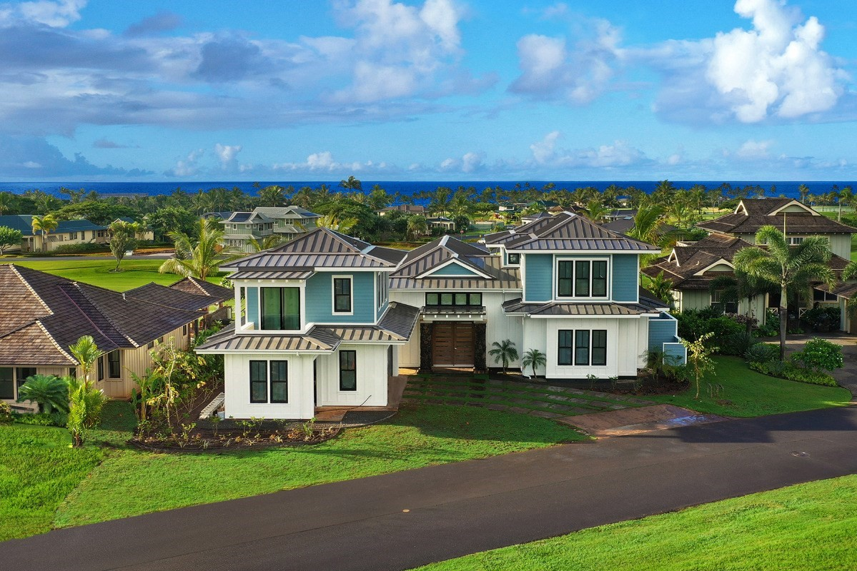 Light, Polish, Details and a Kauai home outfitted for everyone. Enter this 5-bedroom 4.5 bath new construction Kukuiula masterpiece a...