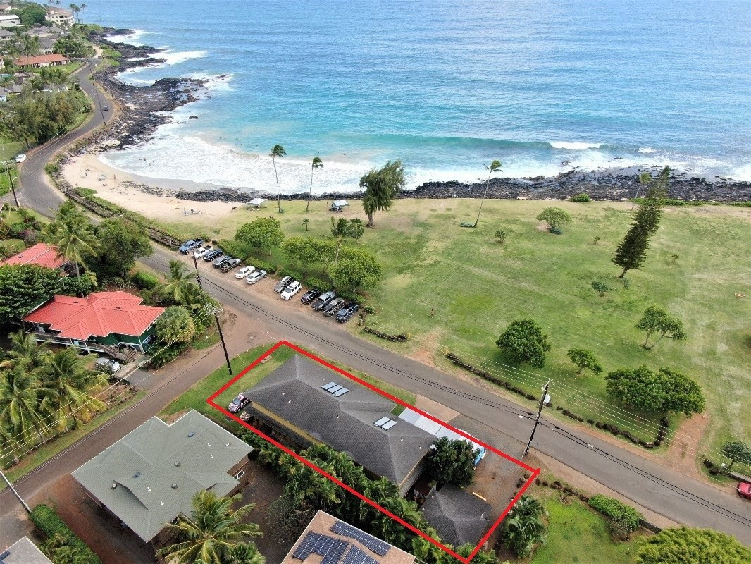 A rare Poipu offering, directly across from Poipu Beach Park.  Here's your chance to work from home while looking out onto the Pacifi...